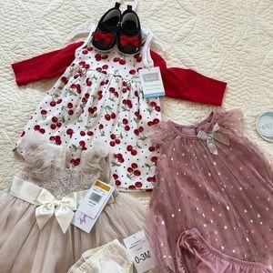 0-3 Month Bundle Baby Girl Dresses
